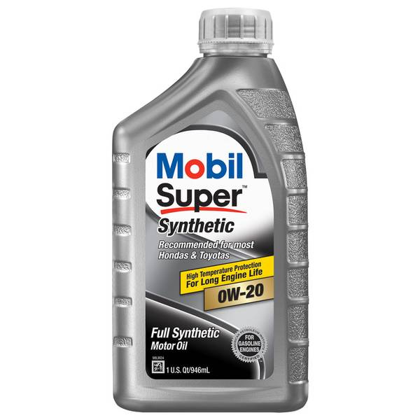 Mobil Super 0w20 Synthetic Motor Oil