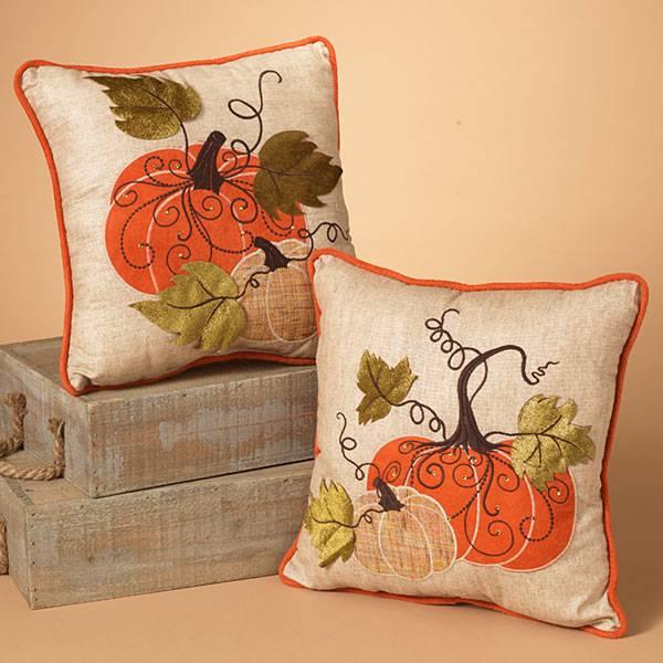 Fabric Harvest Pumpkin Pillow Assortment
