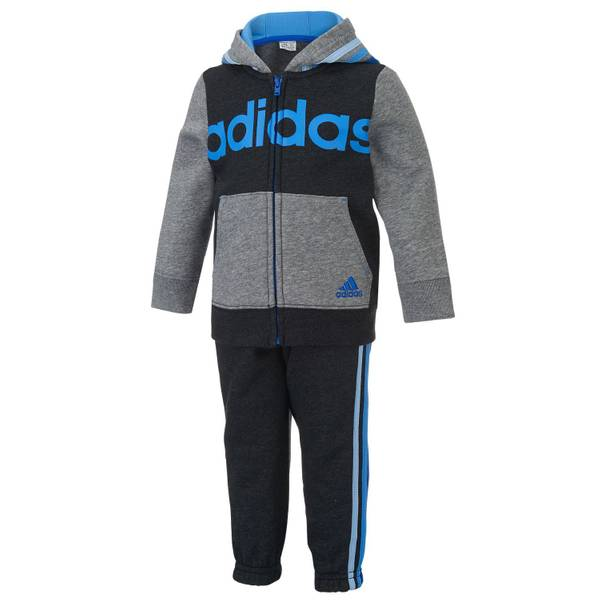 Infant Boy's Blue & Black 2-Piece Sweatsui