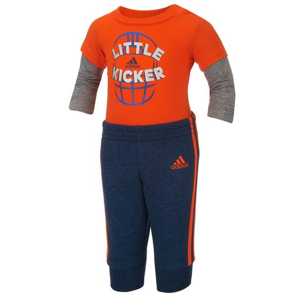 Baby Boy's Orange & Blue 2-Piece Soccer Pant Se