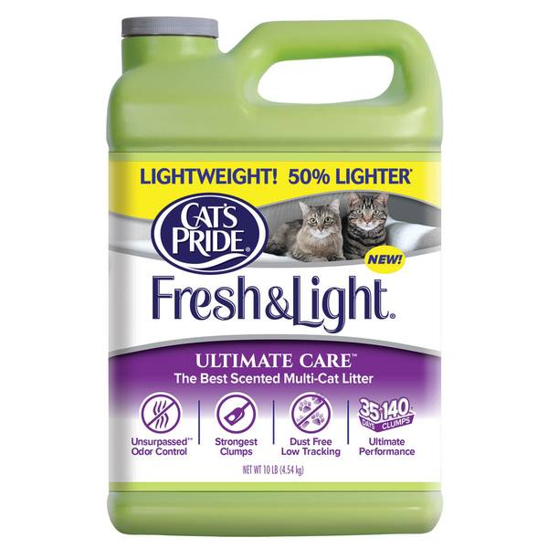 Cat S Pride Fresh Amp Light Ultimate Care Scented Multi Cat Litter