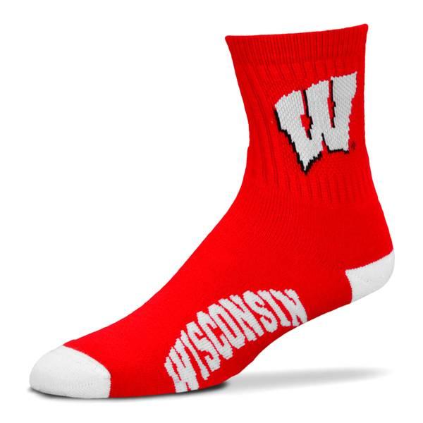 Wisconsin Badgers Quarter Sock