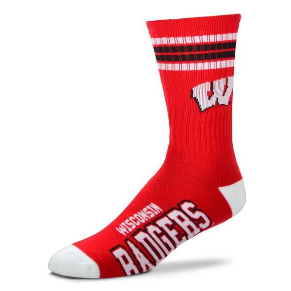 Wisconsin Badgers Crew Sock