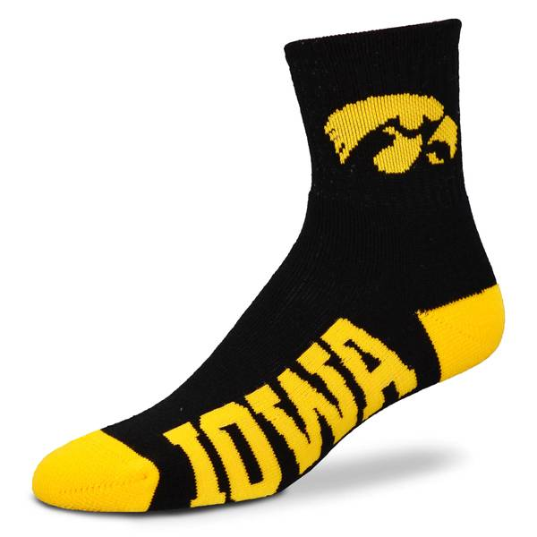 University of Iowa Team Color Quarter Socks