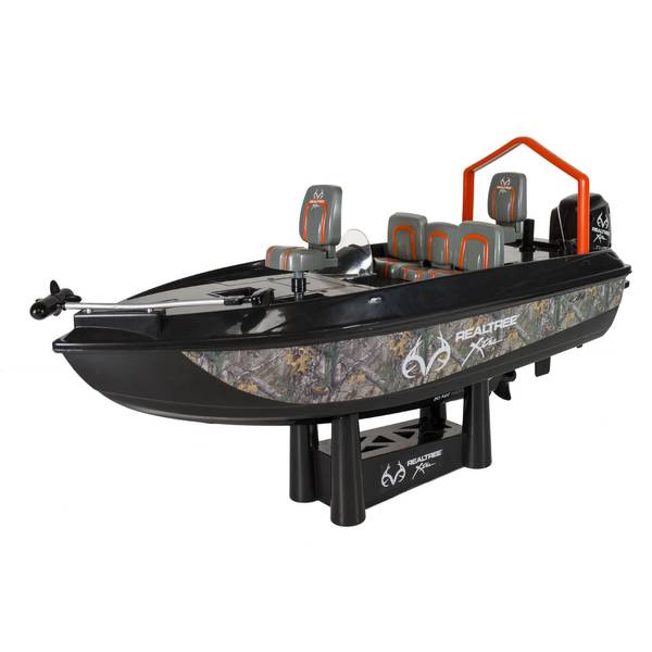 Bear river rc real tree bass fishing boat for Fish catching rc boat