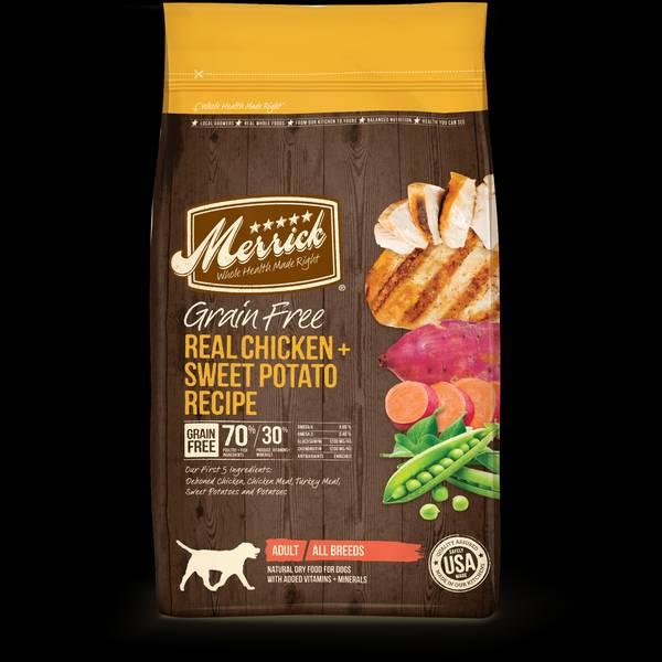 4 lb Grain Free Chicken & Sweet Potato Dog Food