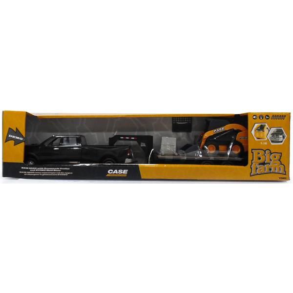 1:16 Ram Pickup With Trailer & Skidsteer