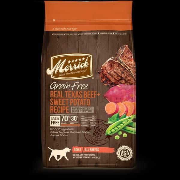 4 lb Grain Free Texas Beef & Sweet Potato Dog Food