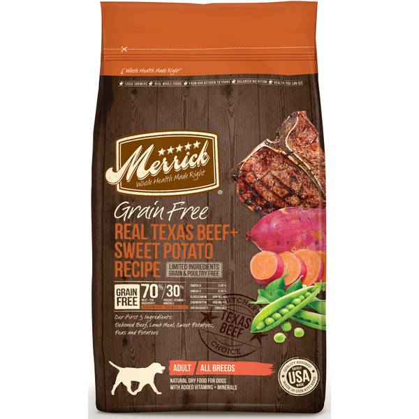 25 lb Grain Free Texas Beef & Sweet Potato Dog Food