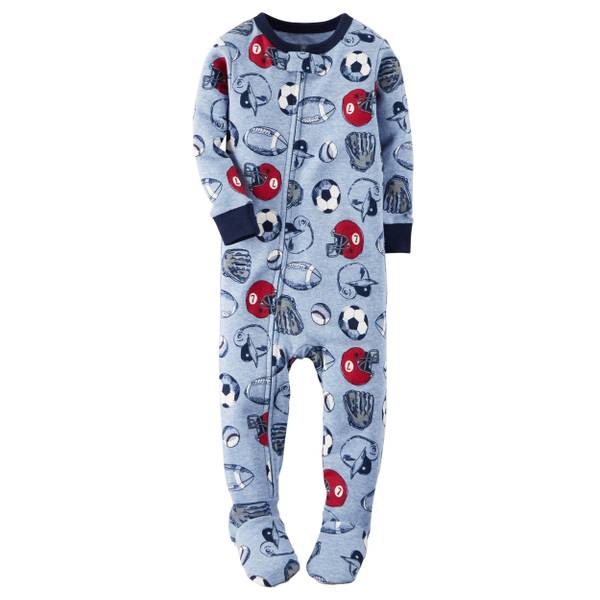 Baby Boy's 1-Piece Snug Fit Cotton Pajamas