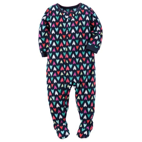 Baby Girls' 1-Piece Fleece Pajamas