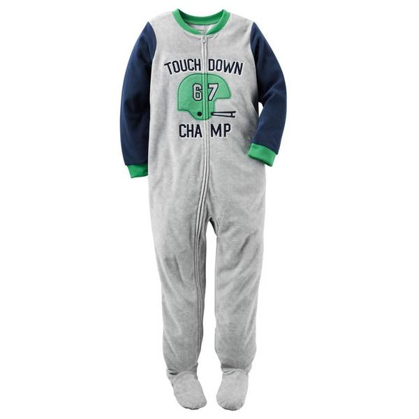 Boys' 1-Piece Fleece Pajamas