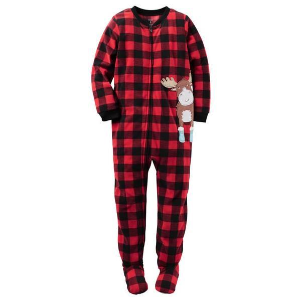 Boys' 1-Piece Fleece Pajamas