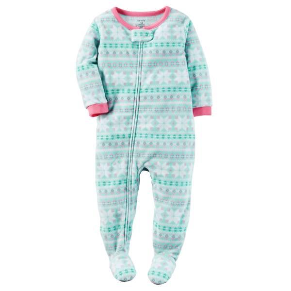 Baby Girls' 1-Piece Fleece Pajamas