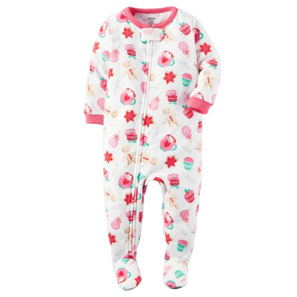 Baby Girls' 1-Piece Christmas Pajamas