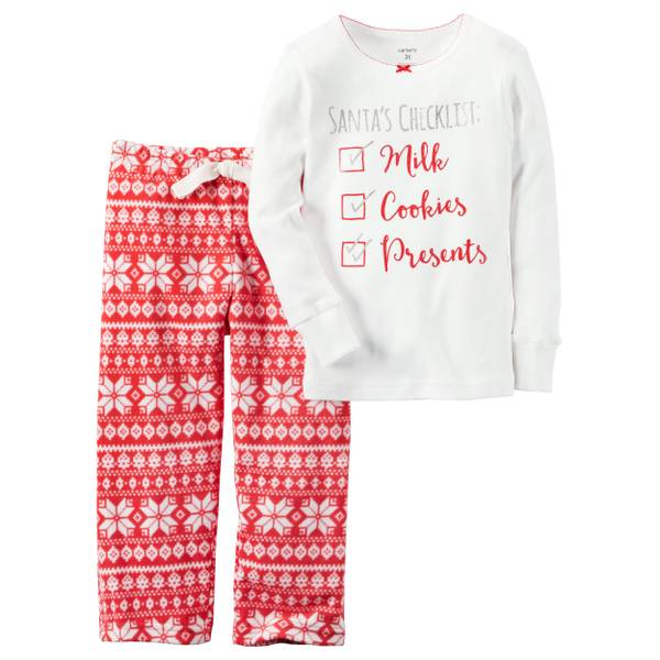 Girls'  & Red 2-Piece Pajamas Set