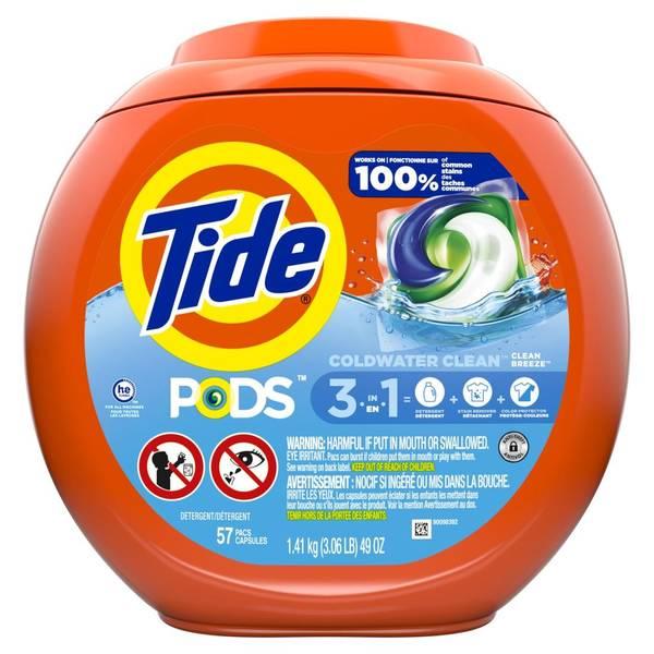 tide pods ocean mist laundry detergent pacs