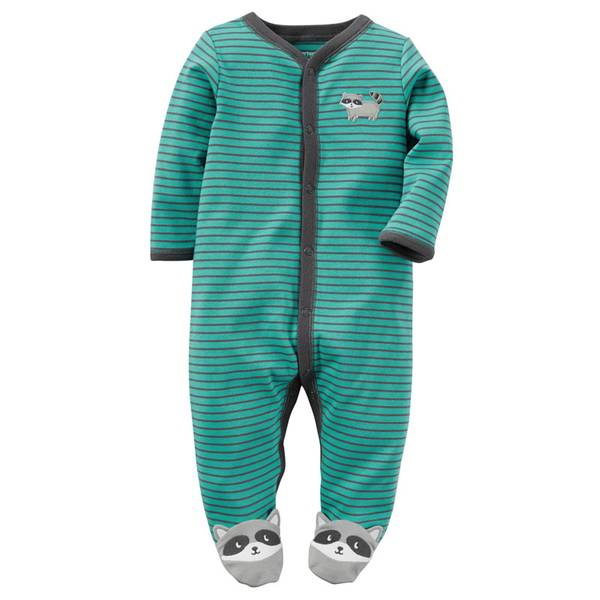 Baby Boys' Green Snap-Up Sleep & Play Pajamas