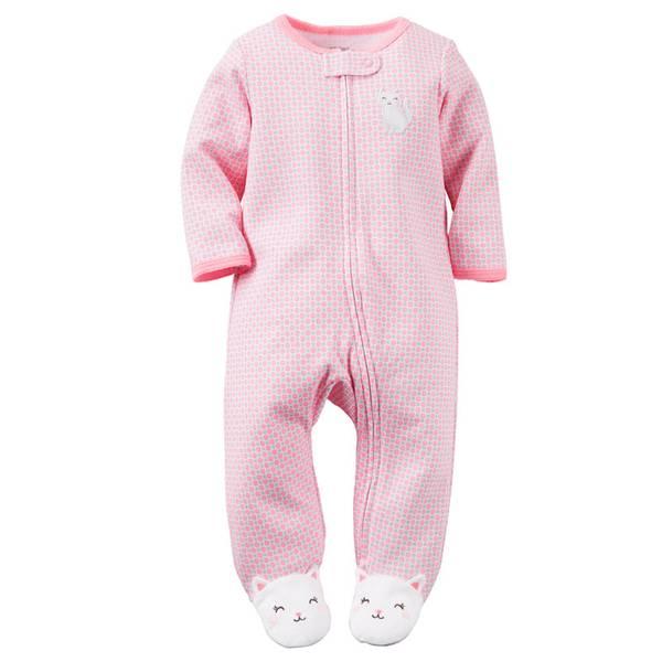 Baby Girls'  Zip-Up Sleep & Play Pajamas
