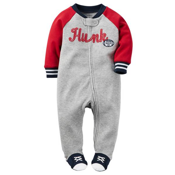 Baby Boys' Heather Zip-Up Sleep & Play One Jumpsuit