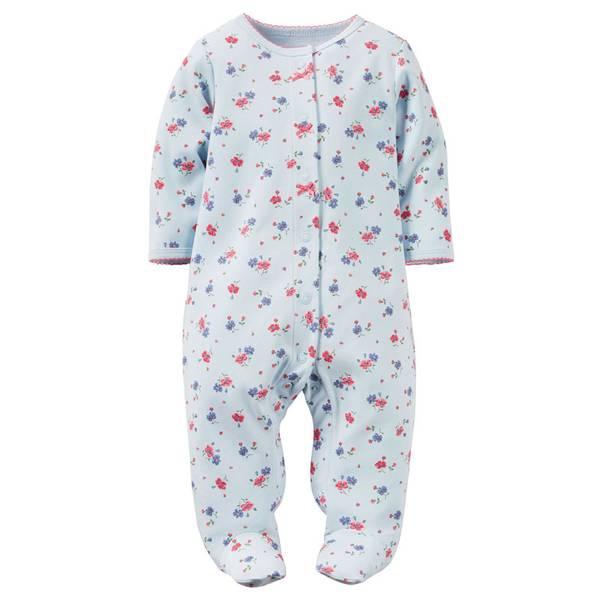 Baby Girls'  Snap-Up Sleep & Play Pajamas
