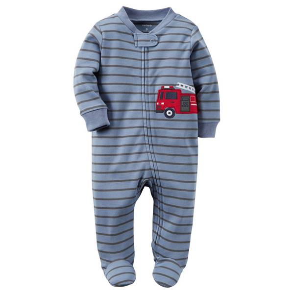 Baby Boys'  Zip-Up Sleep & Play Pajamas