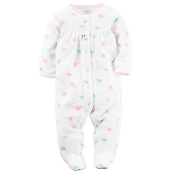 Baby Girls'  Sleep & Play Snap-Up Pajamas