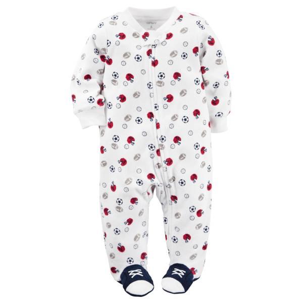 Baby Boys'  Sleep & Play Zip-Up Jumpsuit