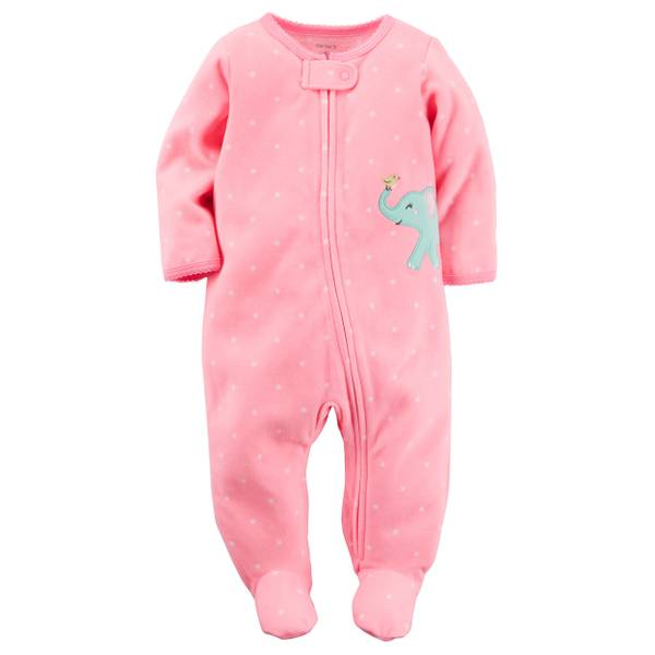 Baby Girls'  Sleep & Play Zip-Up Pajamas