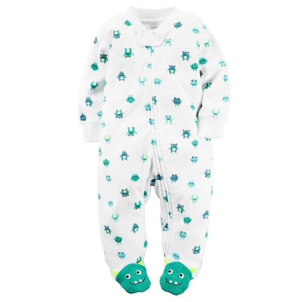 Baby Boys'  & Green Sleep & Play Zip-Up Jumpsuit