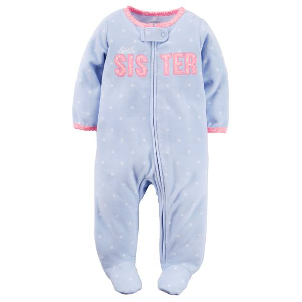 Baby Girls'  Sleep & Play Zip-Up Jumpsuit