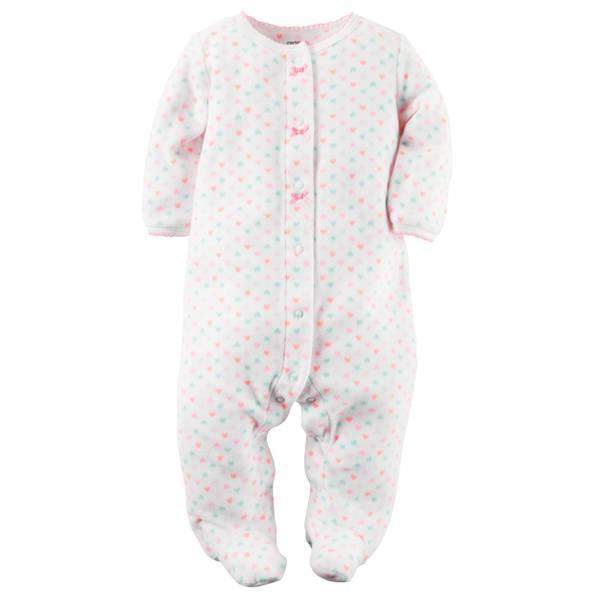 Baby Girls'  Fleece Snap-Up Sleep & Play
