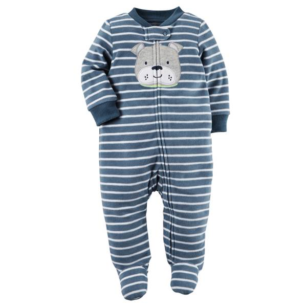 Baby Boys'  Fleece Zip-Up Sleep & Play Jumpsuit