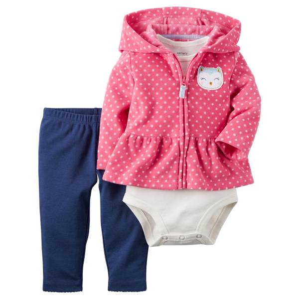 Baby Girl's Multi-Colored 3-piece Cardigan Set