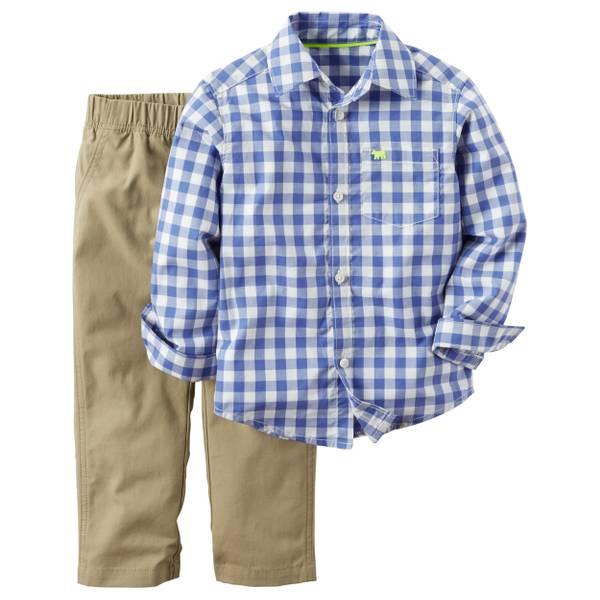 Baby Boy's Multi-Colored 2-piece Shirt & Pants Set