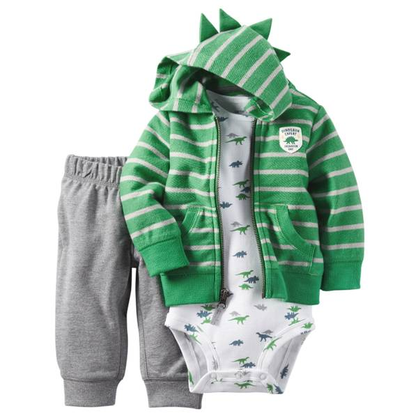 Infant Boy's Multi-Colored 3-Piece Cardigan Set