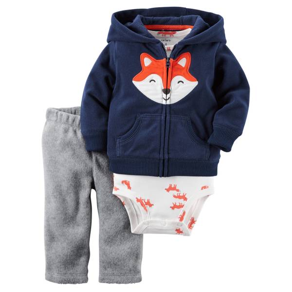 Baby Boy's Multi-Colored 3-Piece Cardigan Set