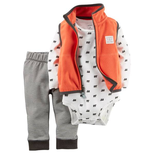 Infant Boy's Multi-Colored 3-Piece Vest Set
