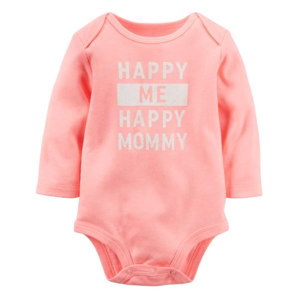 Baby Girls' Slogan Bodysuit