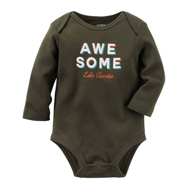 Baby Girl's Black Awesome Bodysuit