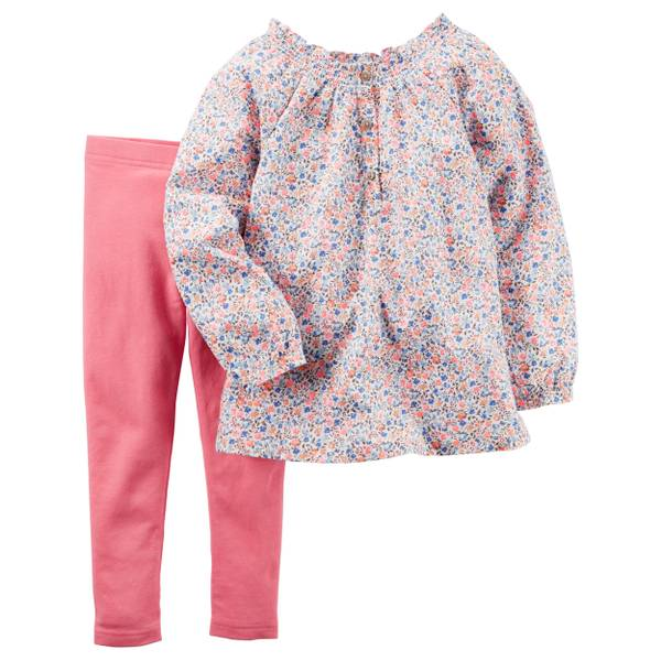 Infant Girl's Multi-Colored 2-piec Top & Leggings Set