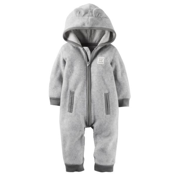 Baby Boy's Gray Heather Hooded Pajamas