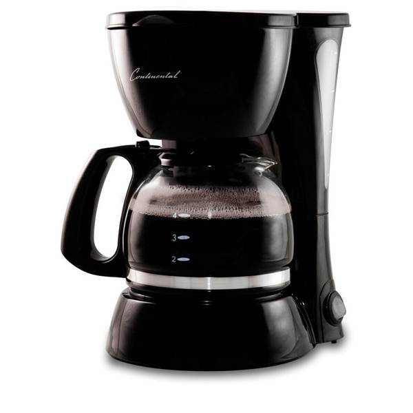Continental Electric Coffee Maker How To Use : Continental Electric 4-Cup Coffee Maker