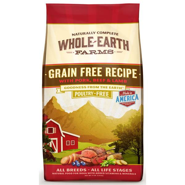 4 lb Grain Free Pork, Beef & Lamb Dog Food