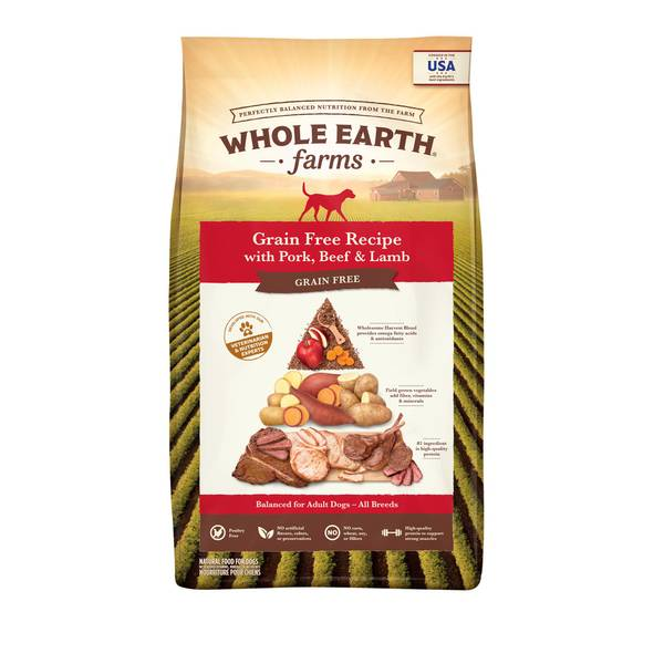 25 lb Grain Free Pork, Beef & Lamb Dog Food