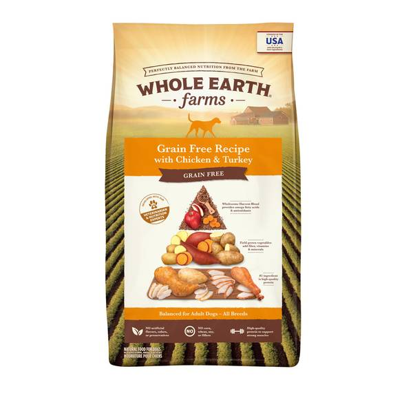 25 lb Grain Free Chicken & Turkey Dog Food