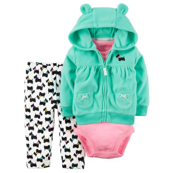 Baby Girl's Multi-Colored 3-Piece Little Jacket Set