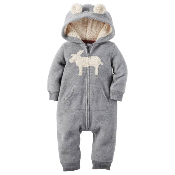 Baby Boy's Gray Fleece Jumpsuit