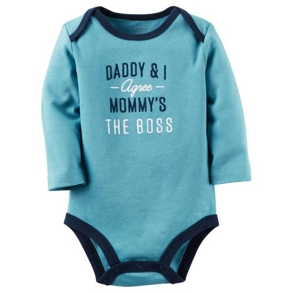 Baby Boys' Slogan Bodysuit