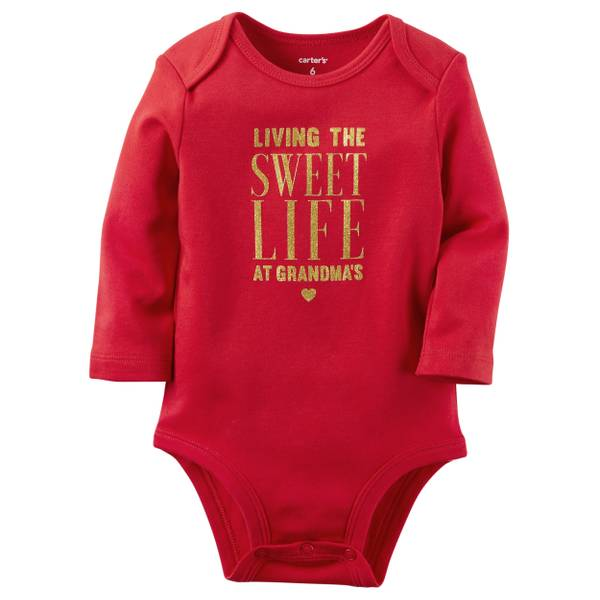Baby Girl's Red Sweet Life Collectible Bodysuit